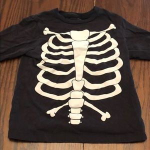 Toddler boys skeleton long sleeve shirt